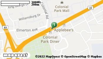 Map of Harrisburg store located at 4621 Jonestown Road Harrisburg, PA 17109