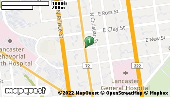 Map of Lancaster North store located at 873 N. Queen St. Lancaster, PA 17601