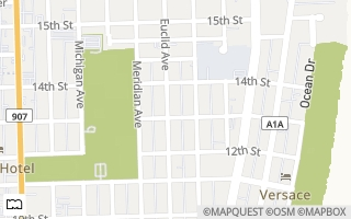 Map of 1307  Euclid Ave  4, Miami Beach, FL 33139, USA