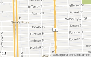 Map of 1840 Dewey St 205, Hollywood, FL 33020, USA