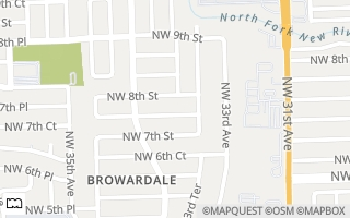 Map of 3341 NW 7th Ct, LAUDERHILL, FL 33311-6506, USA