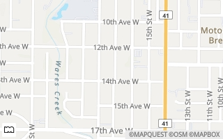Map of 1306 17th St W, Bradenton, FL 34205, USA