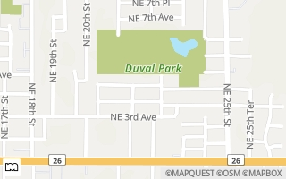 Map of 2115 NE 4th Ave, Gainesville, FL 32641, USA