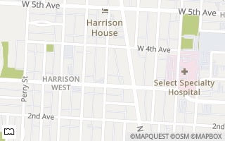 Map of 1136 Harrison Avenue, Columbus, OH 43201, USA