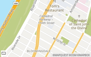 Map of West 108th St/Amsterdam Ave 25, New York, NY 10025, USA