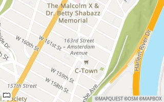 Map of Amsterdam Ave & St Nicholas Ave & W 162nd St, new york, NY 10032, USA