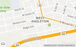 Map of 119 Webster Ave, West Hazleton, PA 18202, USA