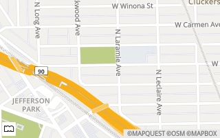 Map of SOLD 5907 W. Leland Ave, Chicago, IL 60630, USA