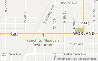 Map of 625 Big Horn Ave., Worland, WY 82401, USA